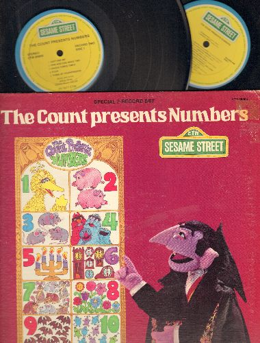 Sesame Street - The Count Presents Number: 2 vinyl STEREO LP records in gate-fold cover - EX8/EX8 - LP Records