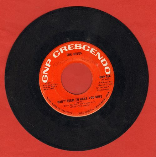 Seeds - Can't Seem To Make You Mine/I Tell Myself  - VG7/ - 45 rpm Records