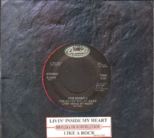 Seger, Bob & The Silver Bullet Band - Like A Rock/Livin' Inside My Heart (with juke box label and company sleeve) - NM9/ - 45 rpm Records