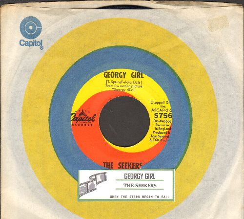 Seekers - Georgy Girl (Hey There Georgy Girl!)/When The Stars Begin To Fall (from film 'Georgy Girl') (with juke box label and Capitol company sleeve) - NM9/ - 45 rpm Records