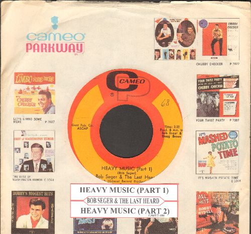 Seger, Bob & The Last Heard - Heavy Music (Parts 1 + 2) (with juke box label and vintage Cameo/Parkway company sleeve) (bb) - EX8/ - 45 rpm Records