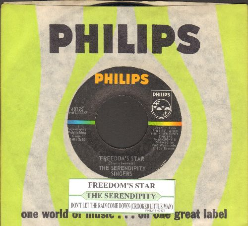 Serendipity Singers - Freedom's Star/Crooked Little Man (original first issue with juke box label and Philips company sleeve) - NM9/ - 45 rpm Records