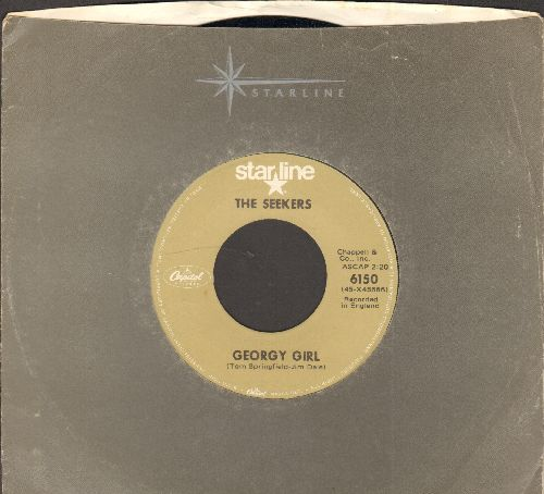 Seekers - Georgy Girl (Hey There Georgy Girl!)/I'll Never Find Another You (double-hit re-issue with company sleeve) - NM9/ - 45 rpm Records