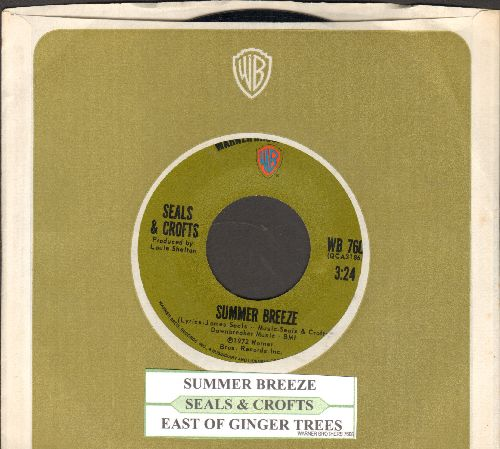 Seals & Crofts - Summer Breeze/East Of Ginger Trees (with juke box label and company sleeve) - NM9/ - 45 rpm Records