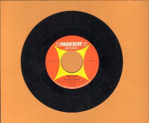Senator Bobby - Wild Thing/Wild Thing (by Senator Everett McKinley on flip side) - Hilarious Bobby Kennedy Spoof!   - VG7/ - 45 rpm Records