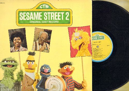 Sesame Street - Sesame Street 2: The Grouch Song, I'm Pretty, Everyone Makes Mistakes, Play Song (Vinyl STEREO LP record) - EX8/VG7 - LP Records