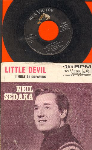 Sedaka, Neil - Little Devil/I Must Be Dreaming (with picture sleeve) - VG7/VG7 - 45 rpm Records