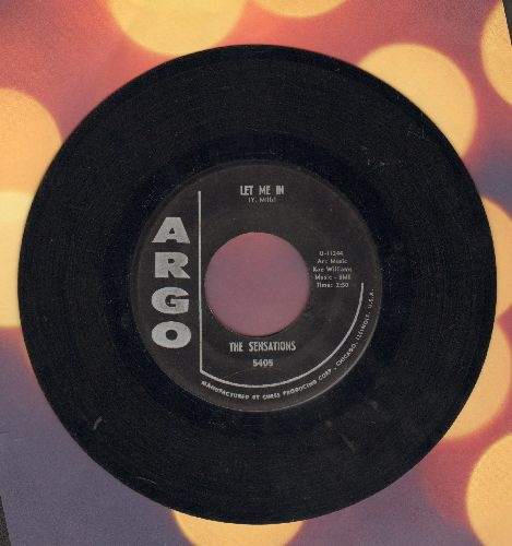 Sensations - Let Me In/Oh Yes, I'll Be True (black label early pressing) - EX8/ - 45 rpm Records