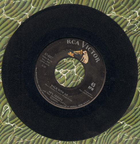Sedaka, Neil - King Of Clowns/Walk With Me (BEAUTIFUL over-looked flip-side!) - EX8/ - 45 rpm Records