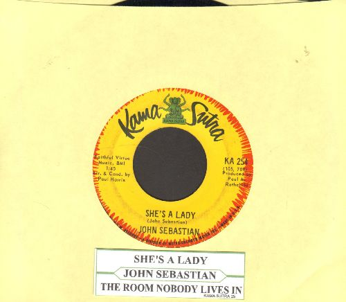 Sebastian, John - She's A Lady/The Room Nobody Lives In (with juke box label) - EX8/ - 45 rpm Records
