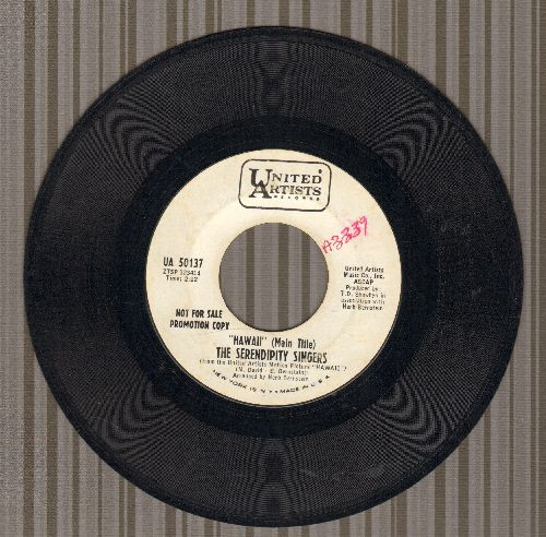 Serendipity Singers - Hawaii (Main Title)/The Wishing Doll (DJ advance pressing) - EX8/ - 45 rpm Records
