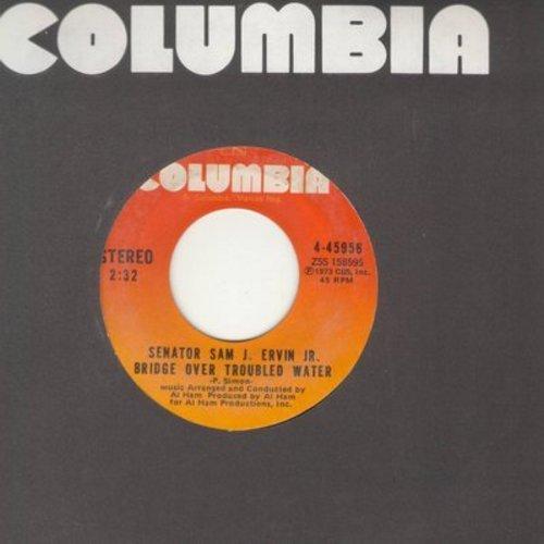Senator Sam J. Ervin Jr. - Bridge Over Troubled Water/Zeke And The Snake - EX8/ - 45 rpm Records