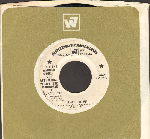 Lewis, Michael - Irma's Theme/Aurelia's Theme (DJ advance pressing with vintage Warner Brothers company sleeve) - EX8/ - 45 rpm Records