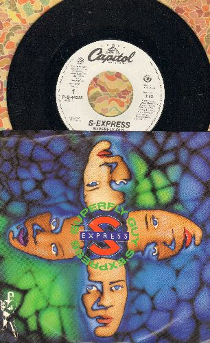 S-Express - Superfly Guy (double-A-sided DJ advance copy with picture sleeve) - M10/NM9 - 45 rpm Records