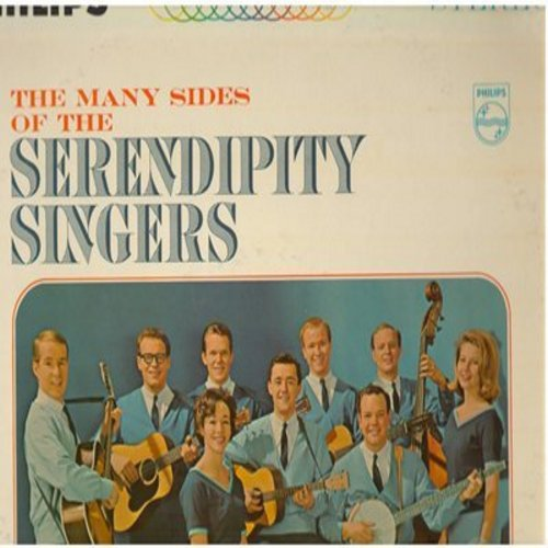 Serendipity Singers - The Many Sides Of The Serendipity Singers: Beans In My Ears, Hi Lili Hi Lo, The New Frankie And Johnny Song, Six Foot Six (Vinyl STEREO LP record) - NM9/EX8 - LP Records
