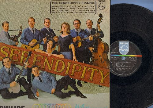 Serendipity Singers - Serendipity: Freedom's Star, Goin' Home, Don't Let The Rain Come Down, Boots And Stetsons, Sailin' Away, Sunshine Special, Waggoner Lad (vinyl MONO LP record) - VG7/EX8 - LP Records