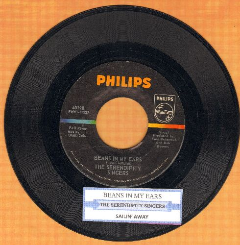 Serendipity Singers - Beans In My Ears/Sailin' Away (with juke box label) - NM9/ - 45 rpm Records