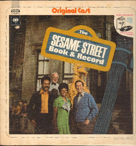 Sesame Street - The Sesame Street Book & Record: Includes songs by Kermit, Ernie & Bert, Oscar and other Original Cast Members! Includes full-color picture book! - NM9/VG7 - LP Records