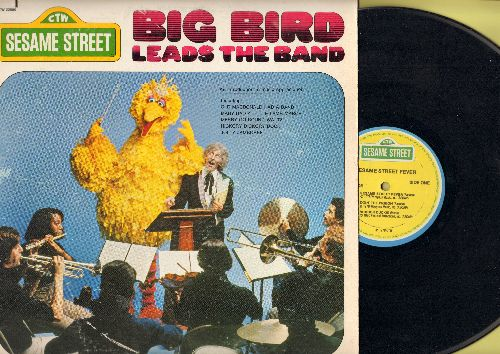 Sesame Street - Big Bird Leads The Band: Old MacDonald Had A Band, Frere Jaques, Alphabet Song, Twinkle Twinkle Little Star (Vinyl STEREO LP record) - VG7/VG7 - LP Records