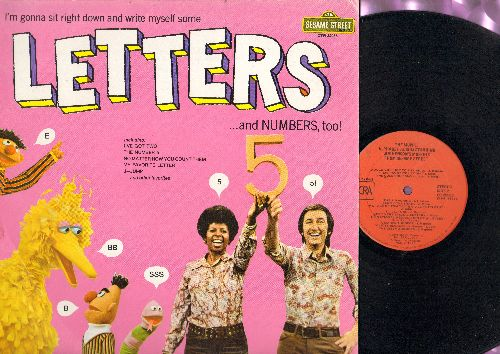 Sesame Street - Letters…and Number, too!: I've Got Two, The Number 5, No Matter How You Count Them, My favorite Letters (Vinyl STEREO LP record) - VG7/EX8 - LP Records