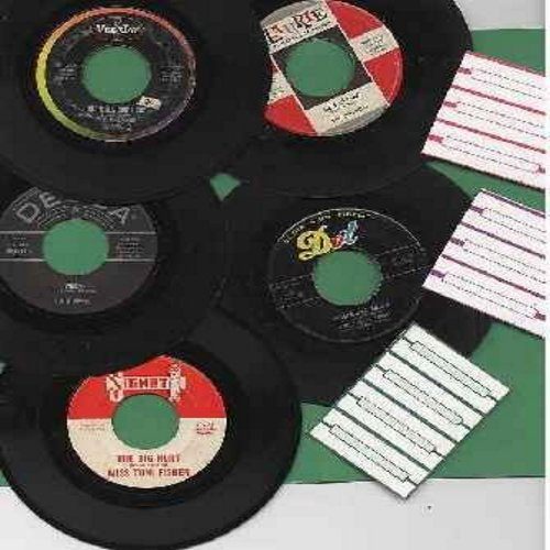 Kalin Twins, Chiffons, Four Seasons, Miss Toni Fisher, Chiffons, Del Vikings - Vintage Rock & Roll 45s 5-Pack - Ideal for Juke Box Enthusiasts! Original first issue 45s, all in very good or better condition, shipped in plain white paper sleeves for safe s