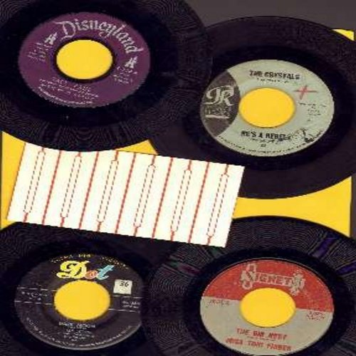 Annette, Crystals, Miss Toni Fisher, Gale Storm - GIRL-SOUND 4-Pack: 4 original vintage 45s, all in very good or better condition, with plain white company sleeves and a strip of 6 blank juke box label. Hit titles include Tall Paul, He's A Rebel, The Big