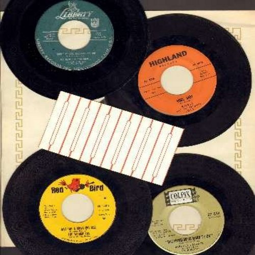 Fabares, Shelley, Patience & Prudence, Rosie & The Originals, Shangri-Las - Vintage Girl-Sound 4-Pack: 4 RARE original 45rpm records, shipped in plain white paper sleeves and with a strip of 6 blank juke box labels. Hit titles include Breaking Up Is Hard