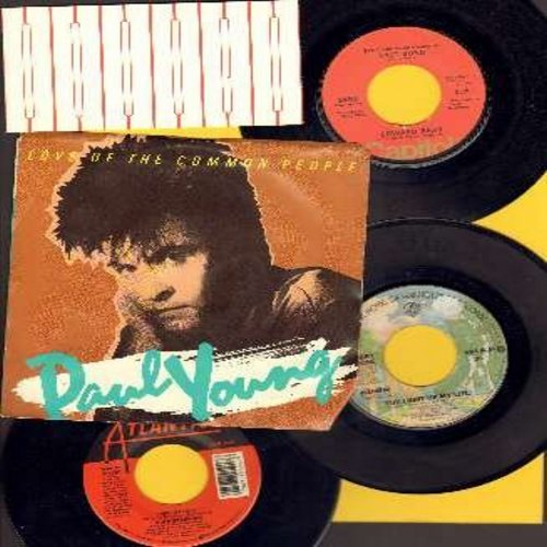 Bear, Edward, Debbie Boone, Laura Branigan, Paul Young - LOVE ROCK - 4-Pack: Set of 4 original 45rpm Love Ballads, one has picture sleeve, the others come with plain white paper sleeves. Hit titles include Last Song, You Light Up My Life, Power Of Love an