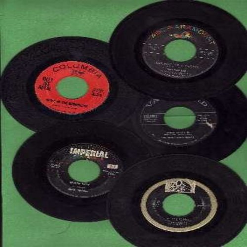 Nelson, Rick, Diane Renay, Teddy Randazzo, Rooftop Singers, Billy Joe Royal - 5-Pack of Original First-Issue Hit 45s, all in very good or better condition, each with juke box label and plain white paper sleeve. Hit titles include Be-Bop Baby, Kiss Me Sail