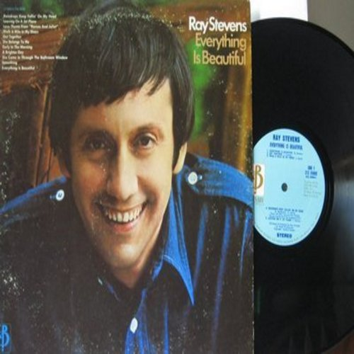 Stevens, Ray - Everything Is Beautiful: Raindrops Keep Fallin' On My Head, Leaveing On A Jet Plane, Something (Vinyl STEREO LP record) - M10/VG7 - LP Records