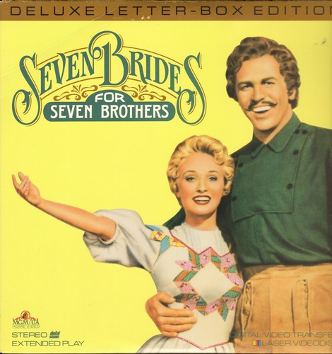 Seven Brides For Seven Brothers - Seven Brides For Seven Brothers - LASERDISC Deluxe Letter-Box Edition of the Classic Hollywood Musical (This is a LASERDISC, not any other kind of media!) - NM9/NM9 - LaserDiscs