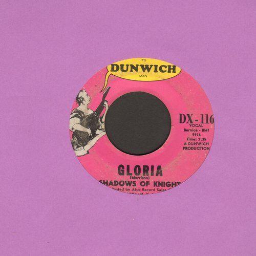 Shadows Of Knight - Gloria/Dark Side (PURPLE/YELLOW LABEL) - VG7/ - 45 rpm Records