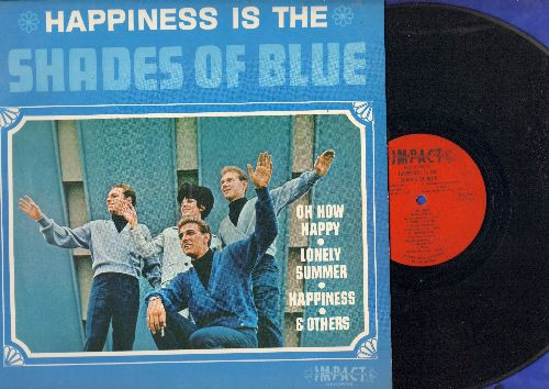 Shades Of Blue - Happiness Is The Shades Of Blue: With This Ring, Oh How Happy, With This Ring, Little Orphan Boy, Lonely Summer (vinyl MONO LP record) - VG7/EX8 - LP Records