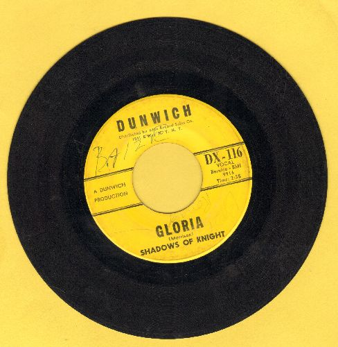Shadows Of Knight - Gloria/Dark Side (YELLOW LABEL early pressing, minor wol) - VG7/ - 45 rpm Records