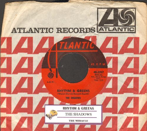 Shadows - Rhythm & Greens/The Miracle (with juke box label and Atlantic company sleeve) - VG7/ - 45 rpm Records