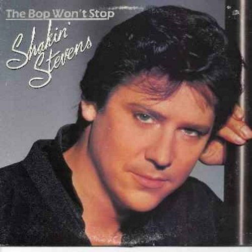 Stevens, Shakin' - The Bop Won't Stop: A Rockin' Good Way (duet with Bonnie Tyler), I Cry Just A Little Bit, A Love Worth Waiting For, Love Me Tonight (Vinyl LP record) (DJ copy) - NM9/EX8 - LP Records