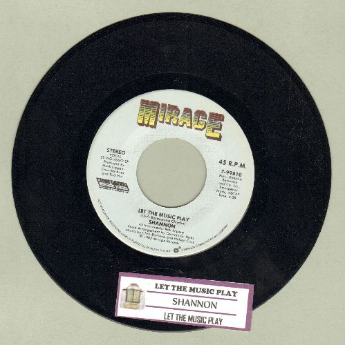 Shannon - Let The Music Play (4:38 minute version + 3:48 minute version)(with juke box label) - NM9/ - 45 rpm Records