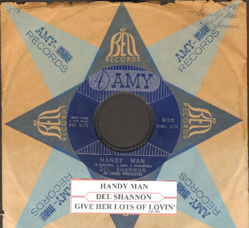 Shannon, Del - Handy Man/Give Her Lots Of Lovin' (with vintage Amy company sleeve and juke box label)  - NM9/ - 45 rpm Records