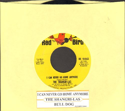 Shangri-Las - I Can Never Go Home Anymore/Bull Dog (with juke box label) - NM9/ - 45 rpm Records