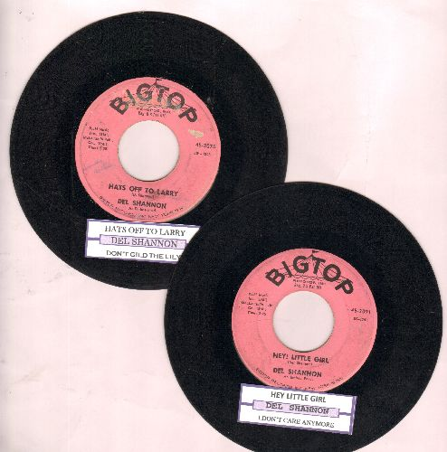 Shannon - 2 for 1 Special: Hats Off To Larry/Hey Little Girl (2 vintage first issue 45rpm records with juke box label for the price of 1!) - VG7/ - 45 rpm Records