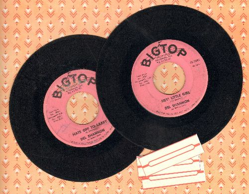 Shannon, Del - 2 for 1 Special: Hats Off To Larry/Hy! Little Girl (2 vintage first issue 45rpm records for the price of 1!) - VG7/ - 45 rpm Records