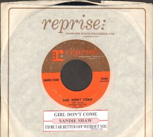 Shaw, Sandie - Girl Don't Come/I'd Be Far Better Off Without You (with juke box label and Reprise company sleeve) - EX8/ - 45 rpm Records