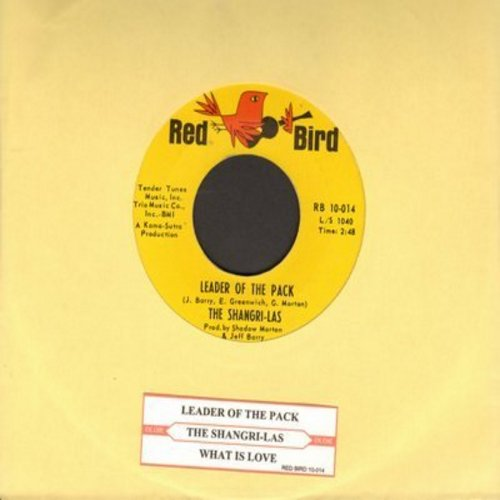 Shangri-Las - Leader Of The Pack/What Is Love (FANTASTIC over-looked flip-side!)   - EX8/ - 45 rpm Records