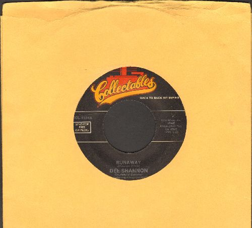 Shannon, Del - Runaway/Hats Off To Larry (double-hit re-issue) - VG7/ - 45 rpm Records