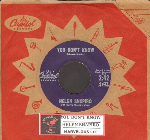 Shapiro, Helen - You Don't Know/Marvelous Lie (with vintage Capitol company sleeve and juke box label) - VG7/ - 45 rpm Records