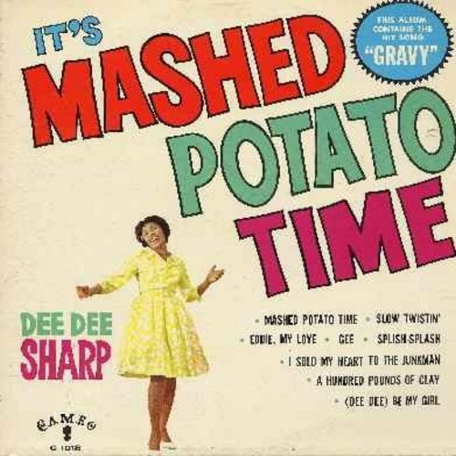 Sharp, Dee Dee - It's Mashed Potato Time: Eddie My Love, Splish-Splash, I Sold My Heart To The Junkman, 200 Pounds Of Clay, (Dee Dee) Be My Girl, Gee, Gravy (Vinyl MONO LP record, cover has water stain) - EX8/VG7 - LP Records