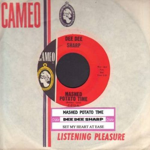 Sharp, Dee Dee - Mashed Potato Time (It's The Latest, It's The Greatest)/Set My Heart At Ease (with RARE vintage Cameo company sleeve and juke box label) - EX8/ - 45 rpm Records