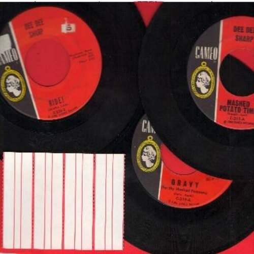 Sharp, Dee Dee - Dee Dee Sharp 3-Pack: First issue 45rpm records in very good or better condition. Hits include Mashed Potato Time, Gravy and Ride! Shipped in plain white paper sleeves with 4 blank juke box labels. GREAT for a Juke Box! - VG7/ - 45 rpm Re