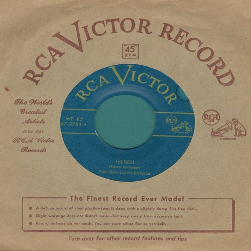 Shaw, Artie & His Orchestra - Frenesi/Begin The Beguine (with RCA company sleeve) - VG7/ - 45 rpm Records