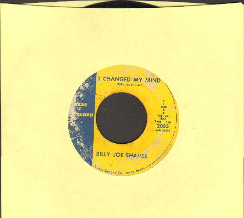 Shaver, Billy Joe - I Changed My Mind/Mud Pie Days - VG7/ - 45 rpm Records